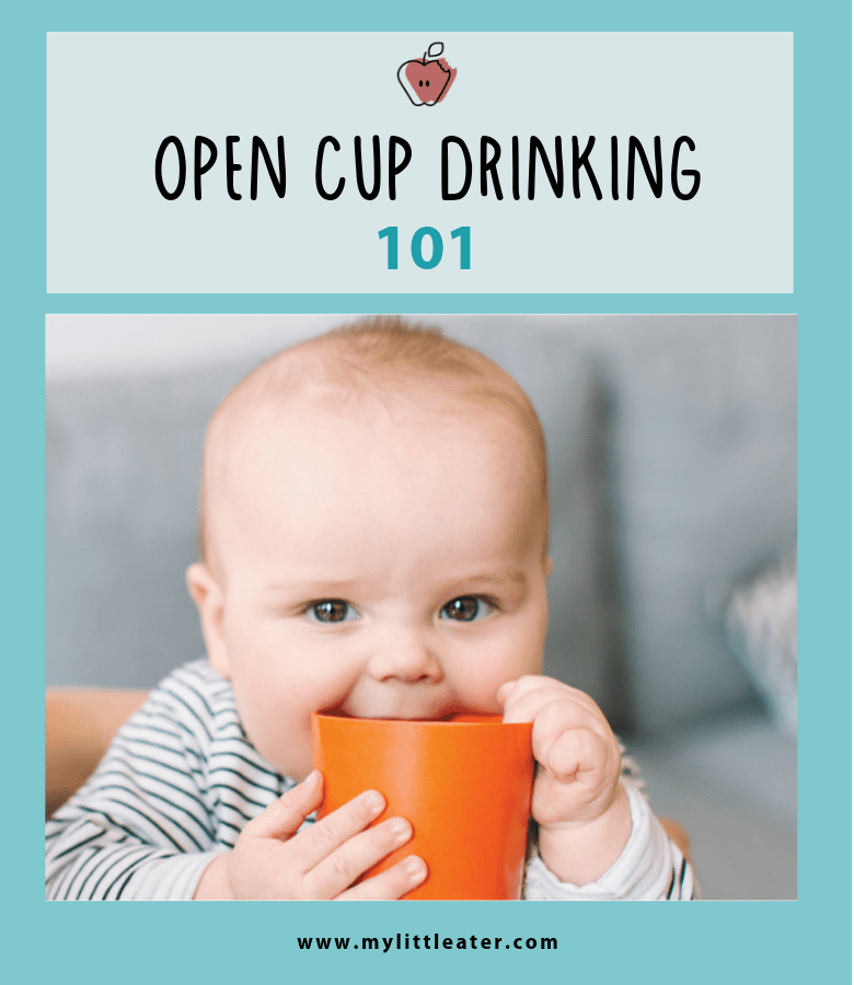 4c6c1962a Did you know that the first type of cup that should be introduced to baby  is an open cup  Not a sippy cup. Seems counterintuitive right