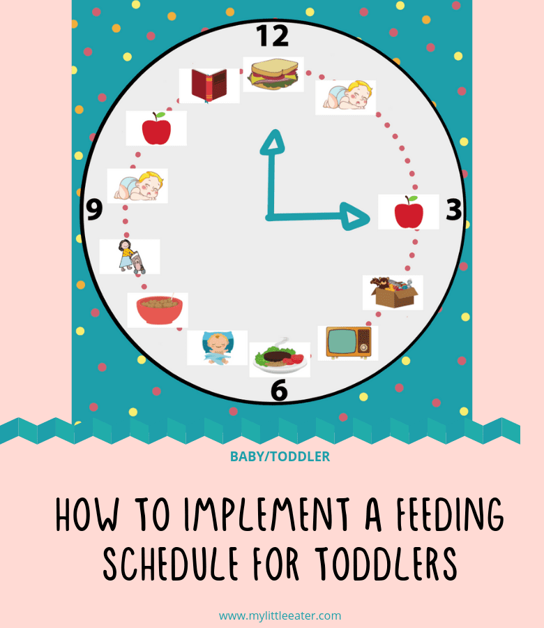 how to implement a feeding schedule for toddlers
