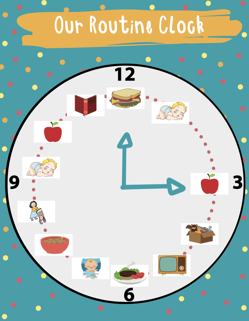 toddler meal routine clock
