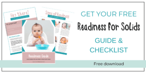 Pictured is a banner with a free download of My Little Eaters™ Readiness For Solids Guide.