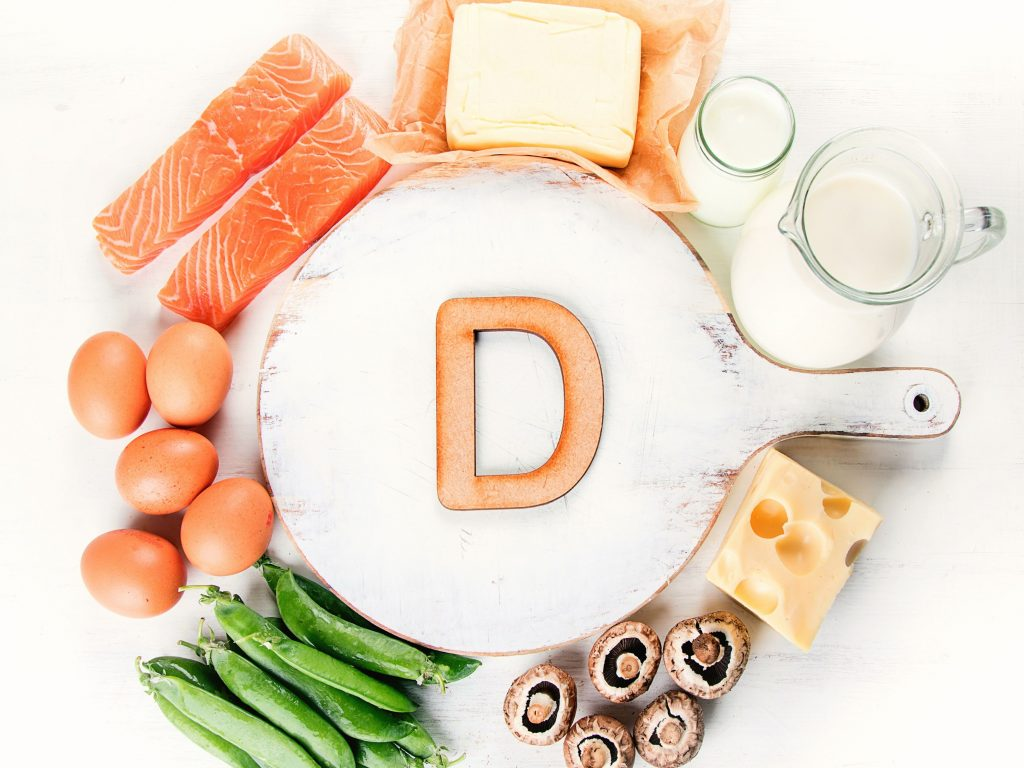 vitamin supplements and nutritious foods
