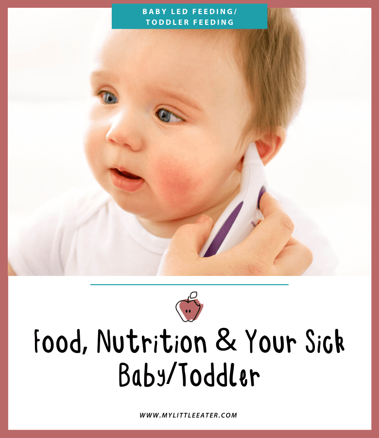 Feeding sick baby toddler