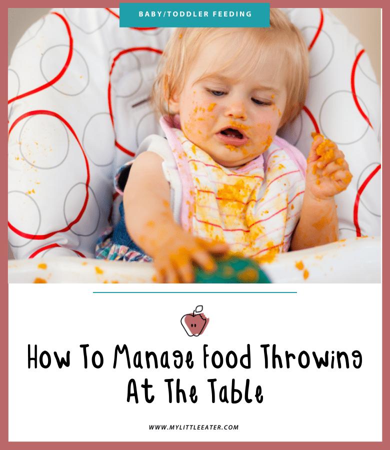 baby toddler food throwing