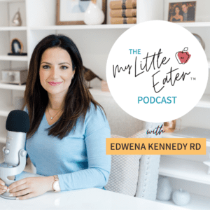 """Episode art for episode """"The My Little Eater Podcast"""". Pictured is Edwena Kennedy, Registered Pediatric Dietitian."""