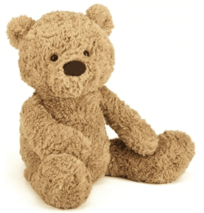Jellycat brand brown teddy bear.