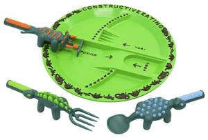 dinosaur themed plate set