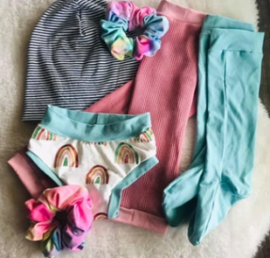 Toddler girl stocking stuffer bundle from Finn and Ark.