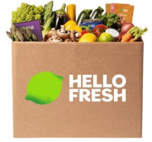 Hello Fresh box of fresh produce.