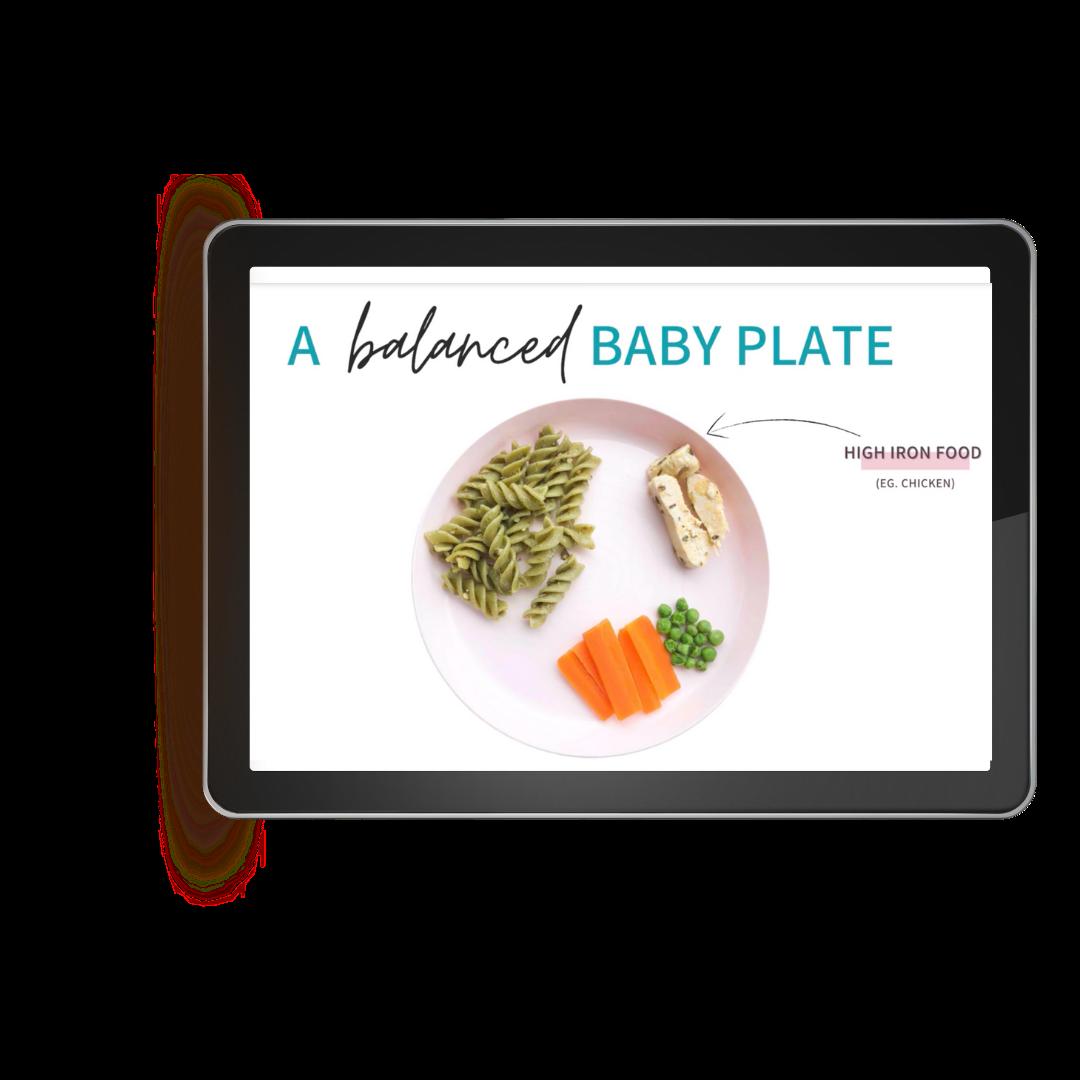 balanced baby plate