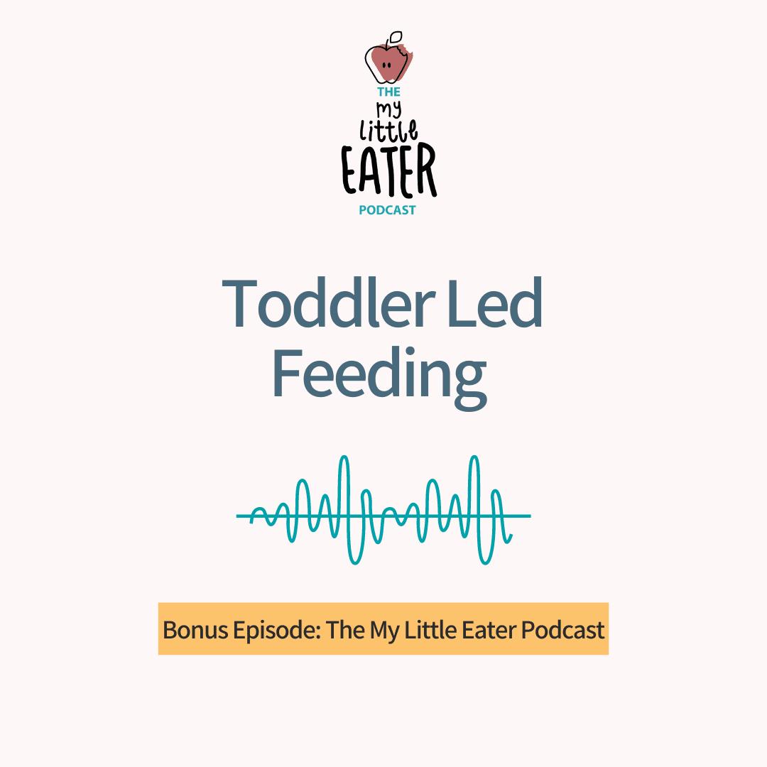 """The My Little Eater Podcast """"Bonus: Toddler Led Feeding"""" episode."""