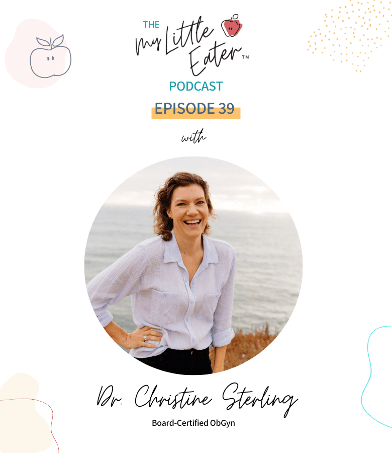 "Episode art for episode ""#39: Navigating Mom Shame and Perfectionism in Motherhood"". Pictured is an image of Dr. Christine Sterling."